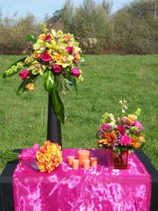 Wedding Table of Flowers in Arcata CA, Country Living Florist & Fine Gifts