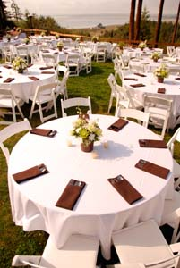 Wedding Arrangements for Guest Tables in Arcata CA, Country Living Florist & Fine Gifts