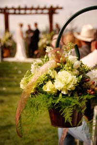 Shepherds Hook Wedding Arrangement in Arcata CA, Country Living Florist & Fine Gifts