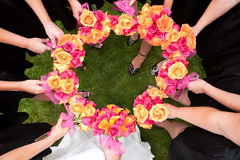 Brides and Bridesmaids Bouquets in Arcata CA, Country Living Florist & Fine Gifts