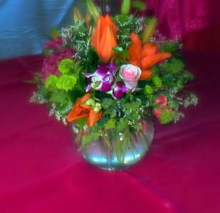 Bright Wedding Arrangement in Arcata CA, Country Living Florist & Fine Gifts