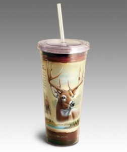 Whitetail Deer Tumbler in Camden AR, Camden Flower Shop