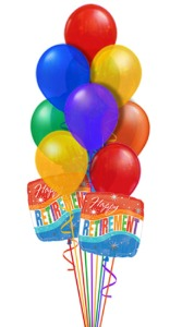 Retirement Balloon Bouquet in Chatham ON, Pizazz!  Florals & Balloons