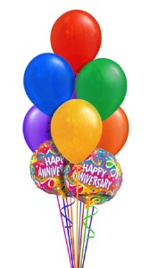 Anniversary Balloon Bouquet (9 Balloons) in Chatham ON, Pizazz!  Florals & Balloons