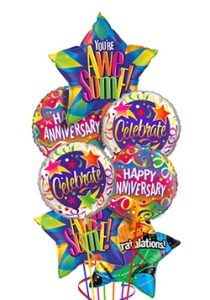 Anniversary Balloon Bouquet - 7 Mylar in Chatham ON, Pizazz!  Florals & Balloons