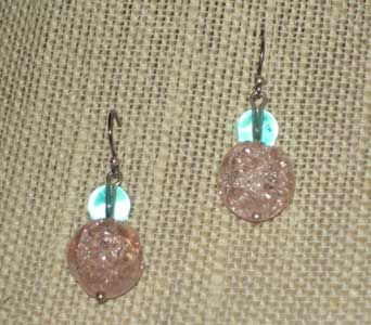 Soft Peach Earrings in Lawrence KS, Englewood Florist