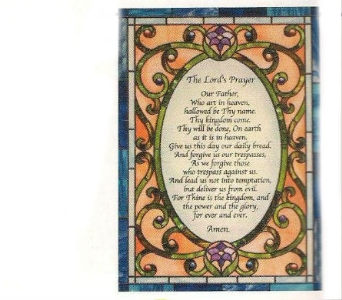 Lord''s Prayer on Stained Glass in Elyria OH, Botamer Florist & More