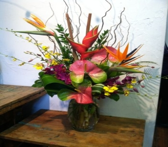 Very Tropical in Kingston NY, Flowers by Maria