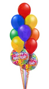 Anniversary Balloon Bouquet (14 Balloons) in Chatham ON, Pizazz!  Florals & Balloons
