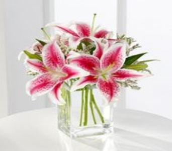 Pink Lily Bouquet in Calgary AB, The Flower Jug