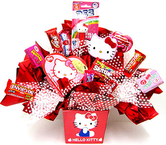 CB279  �Hello Kitty� Candy Bouquet in Oklahoma City OK, Array of Flowers & Gifts