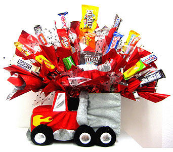 "CB281  ""Trucking Along"" Candy Bouquet in Oklahoma City OK, Array of Flowers & Gifts"