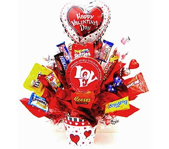 CB283  �Sweet Love�  Candy Bouquet in Oklahoma City OK, Array of Flowers & Gifts