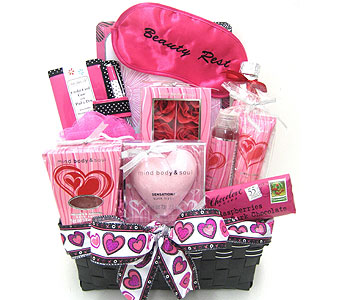 GB334 ''Beauty Rest'' Spa & Gift Basket in Oklahoma City OK, Array of Flowers & Gifts
