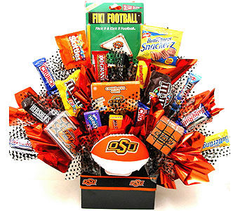 "CBOSU13 ''OSU is Sweetest"" Candy & Gift Bouquet'' in Oklahoma City OK, Array of Flowers & Gifts"