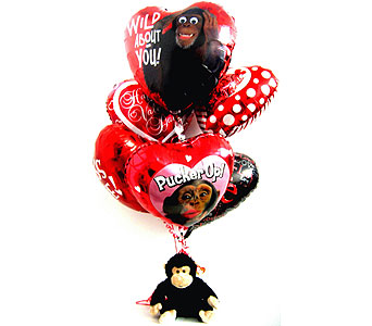 "BB 176 ""Wild About You"" Balloon Bouquet in Oklahoma City OK, Array of Flowers & Gifts"