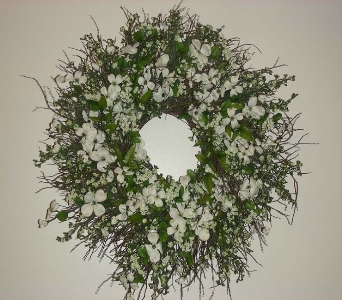 White Dogwood Wreath in Drexel Hill PA, Farrell's Florist