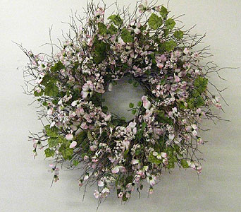 Pink Dogwood wreath in Drexel Hill PA, Farrell's Florist