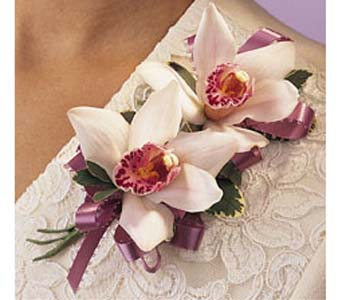 Double Cymbidium Corsage in Brooklyn NY, Enchanted Florist