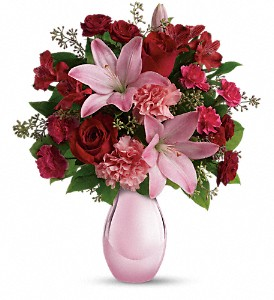 Teleflora's Roses and Pearls Bouquet in Rockford IL, Cherry Blossom Florist