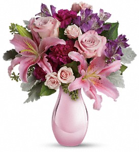 Enchanting Pinks by Teleflora in San Diego CA, Eden Flowers & Gifts Inc.