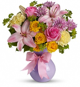 Teleflora's Perfectly Pastel in Columbus IN, Fisher's Flower Basket