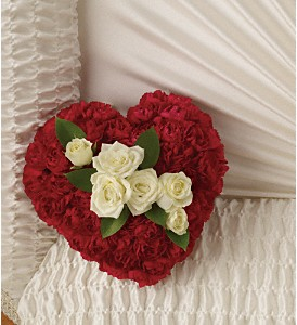 A Devoted Heart Casket Insert in Bakersfield CA, White Oaks Florist