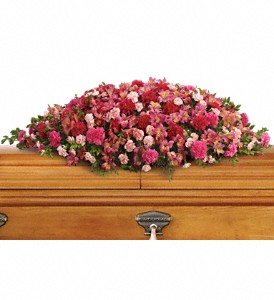 A Life Loved Casket Spray in Fort Worth TX, TCU Florist
