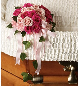 Rose Reflection Casket Insert in St Catharines ON, Vine Floral