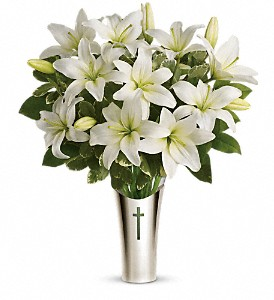Teleflora's Sacred Cross Bouquet in Lebanon OH, Aretz Designs Uniquely Yours
