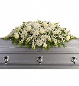 Enduring Light Casket Spray in Tulsa OK, Burnett's Flowers & Designs