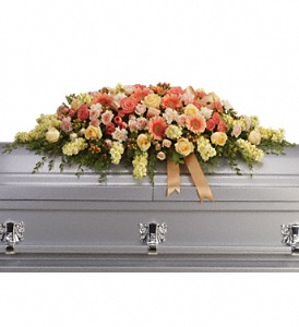 Warmest Remembrance Casket Spray in Gahanna OH, Rees Flowers & Gifts, Inc.