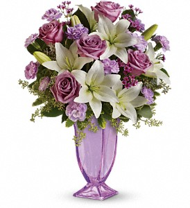 Teleflora's Lavender Love Bouquet in The Woodlands TX, Rainforest Flowers