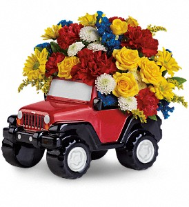 Jeep Wrangler King Of The Road by Teleflora in Fort Lauderdale FL, Brigitte's Flowers Galore