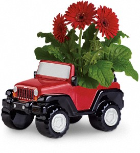 Teleflora's Freewheelin' Jeep Wrangler in New Port Richey FL, Holiday Florist