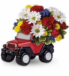 Jeep Wrangler Blazing Trails Bouquet by Teleflora in Abington MA, The Hutcheon's Flower Co, Inc.