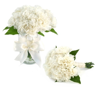 Brides Bouquet 18 Carnatons (Metro-Detroit Area On in Southfield MI, Thrifty Florist