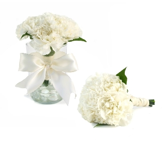 Simply Carnations Wedding Bouquet (Metro-Detroit A in Southfield MI, Thrifty Florist