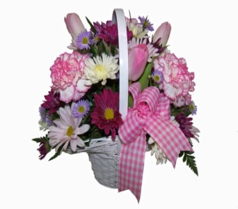 Pretty and Pink in Wading River NY, Forte's Wading River Florist