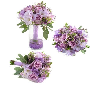 Elegant Lavender Wedding Bouquet (Metro-Detroit On in Southfield MI, Thrifty Florist