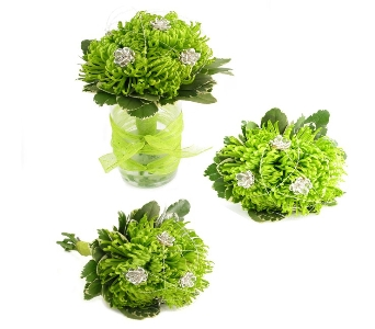 Trendy Green Wedding Bouquet (Metro-Detroit Only) in Southfield MI, Thrifty Florist