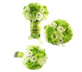 Wild About Green Wedding Bouquet (Metro-Detroit Ar in Southfield MI, Thrifty Florist