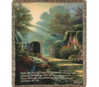 Thomas Kinkade  Garden of Grace throw in Crown Point IN, Debbie's Designs