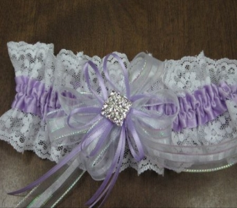 lavender & white garter in Waukesha WI, Flowers by Cammy
