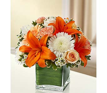 Peach, Orange and White in Palm Desert CA, Milan's Flowers & Gifts