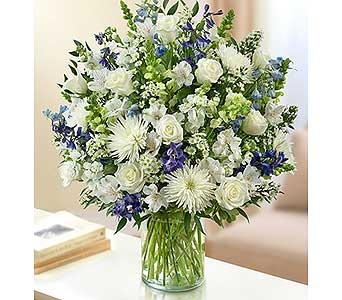 Ultimate Elegance - Blue and White in Palm Desert CA, Milan's Flowers & Gifts