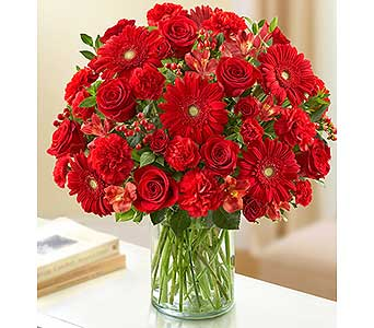 Ultimate Elegance - All Red in Palm Desert CA, Milan's Flowers & Gifts