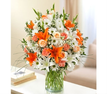 Ultimate Elegance - Peach Orange and White in Palm Desert CA, Milan's Flowers & Gifts