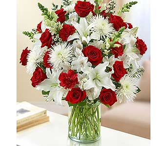 Ultimate Elegance - Red and White in Palm Desert CA, Milan's Flowers & Gifts