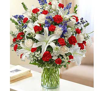 Ultimate Elegance - Red, White and Blue in Palm Desert CA, Milan's Flowers & Gifts